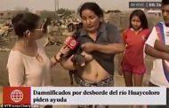 நேரடி ஒளிபரப்பில் பன்றிக்கு பாலூட்டிய பெண்: அதிர்ச்சியடைந்த தொகுப்பாளர்