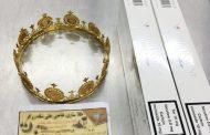 விமான நிலையத்தில் கண்டுபிடிக்கப்பட்ட தங்க கிரீடம்: அதிர்ச்சியில் பொலிசார்