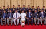 கிரிக்கெட் போட்டியில் வெற்றிபெற்ற இலங்கை அணி - ஜனாதிபதி சந்திப்பு
