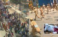 போராட்டகாரர்களை பொலிசார் துப்பாக்கியில் சுடும் காட்சி... பதற வைக்கும் அதிர்ச்சிக் காட்சி