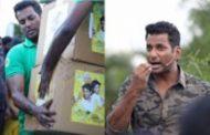 கஜா புயலால் பாதித்தவர்களுக்கு வித்தியாசமாக உதவிய நடிகர் விஷால்...!!!