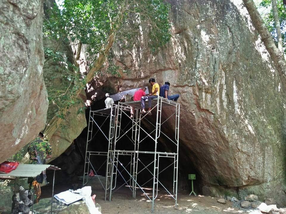 வெடுக்குநாறிமலையை ஆய்வு செய்யும் தொல்லியல் திணைக்களம்