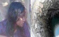 செல்போன் பேசிக்கொண்டே கிணற்றில் விழுந்த பெண்..