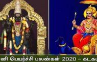 2020-ன் கடக ராசி சனிப்பெயர்ச்சி பலன்கள்..!!!