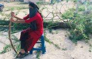 கொரோனாவிலிருந்து கிராமத்தைக் காக்க இளம் பெண் எடுத்த முடிவு...!!
