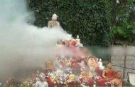 இலங்கையில் முதல்முறையாக எரிக்கப்பட்ட புத்தர் சிலைகள்