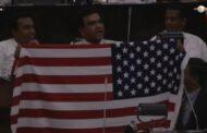 இலங்கை நாடாளுமன்றத்திற்குள் அமெரிக்க தேசிய கொடி..!!