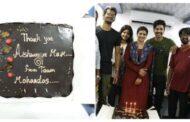 ஐஸ்வர்யா ராஜேஷுக்கு கேக் வெட்டி நன்றி சொன்ன படக்குழுவினர்